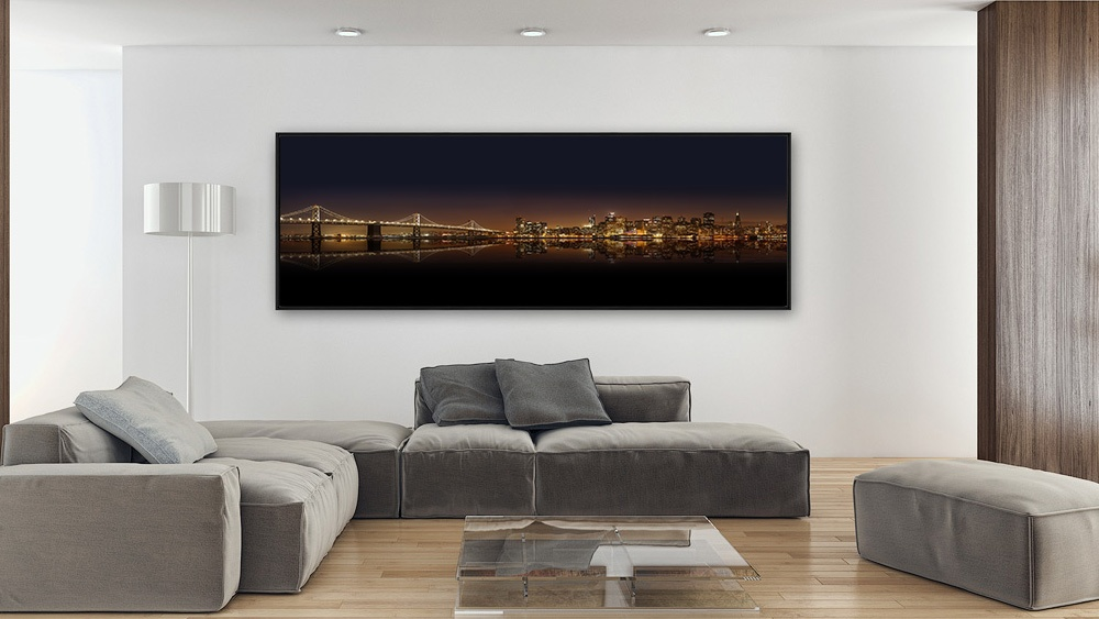 Tableau d'art panoramique by night